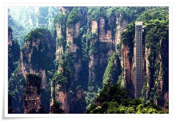 Bailong-Asansörü-1 Dünya'dan Çeşitli Mühendislik Harikaları