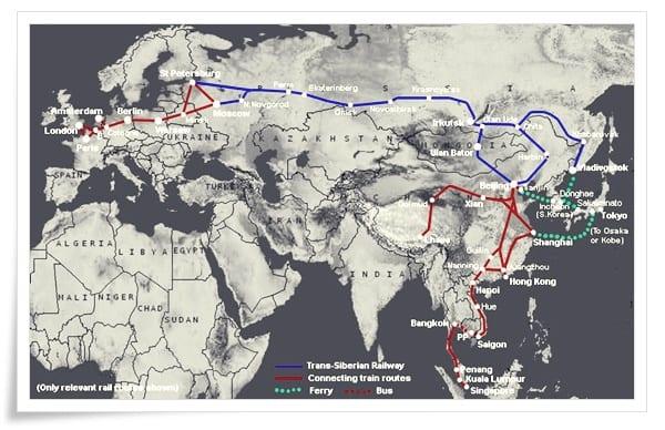 Trans-Sibirya-Tren-Yolu Dünya'dan Çeşitli Mühendislik Harikaları