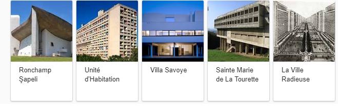 Le-Corbusier-başlıca-eserleri Ünlü Mimarlar'ın Ünlü Sözleri ve Eserleri