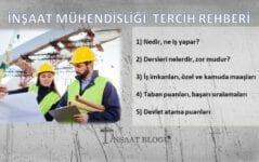inşaat mühendisliği maaşları, iş imkanları, taban puanları ve başarı sıralamaları