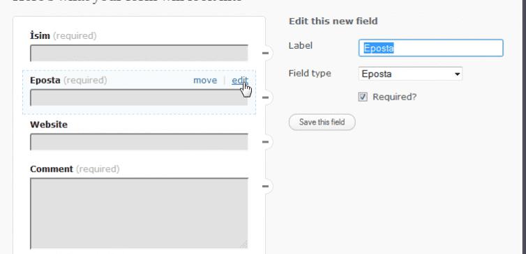 WordPress Form Oluşturma Eklentisi