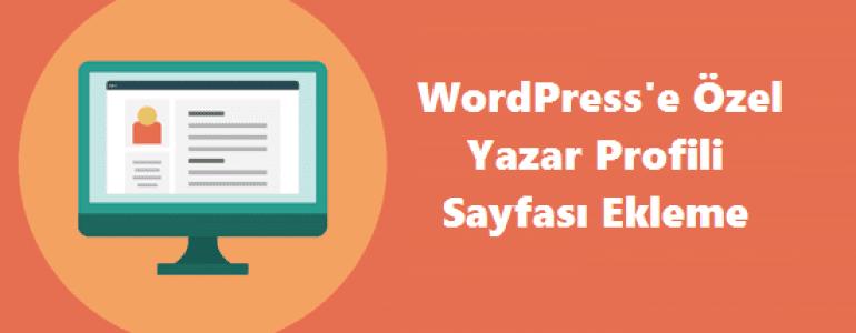 Wordpress Yazar Resmi Nasıl Eklenir